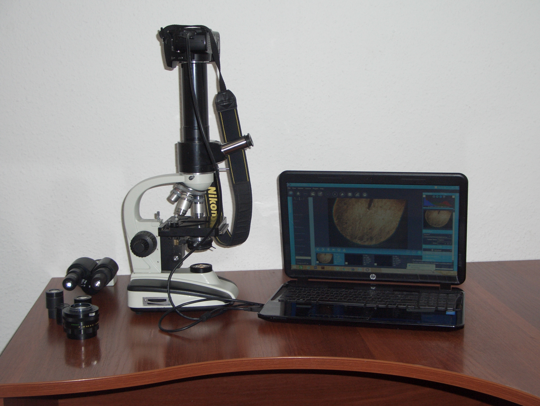 МФН-10 с камерой NIKON D40, микроскоп Микмед-5