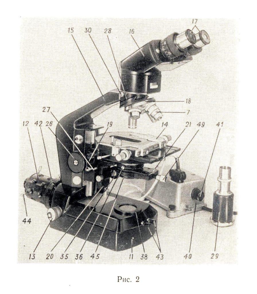 микроскоп биологический большой МББ-1А рис. 2