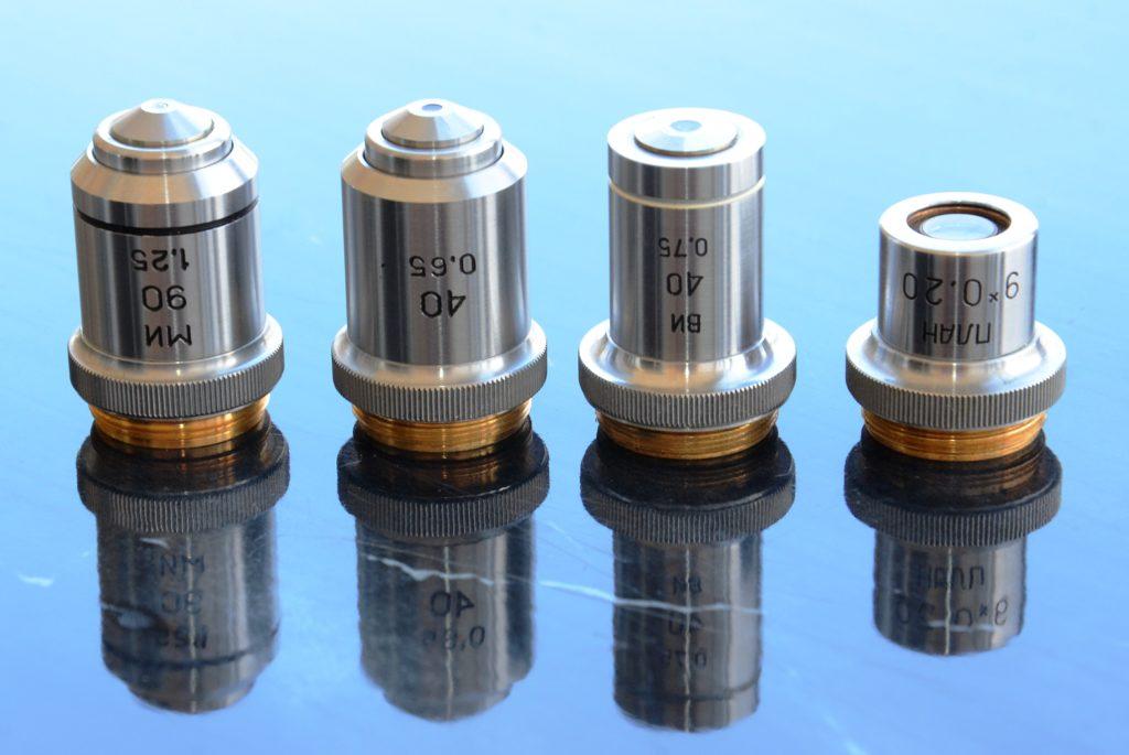 микроскоп биолам Д1 объективы фото