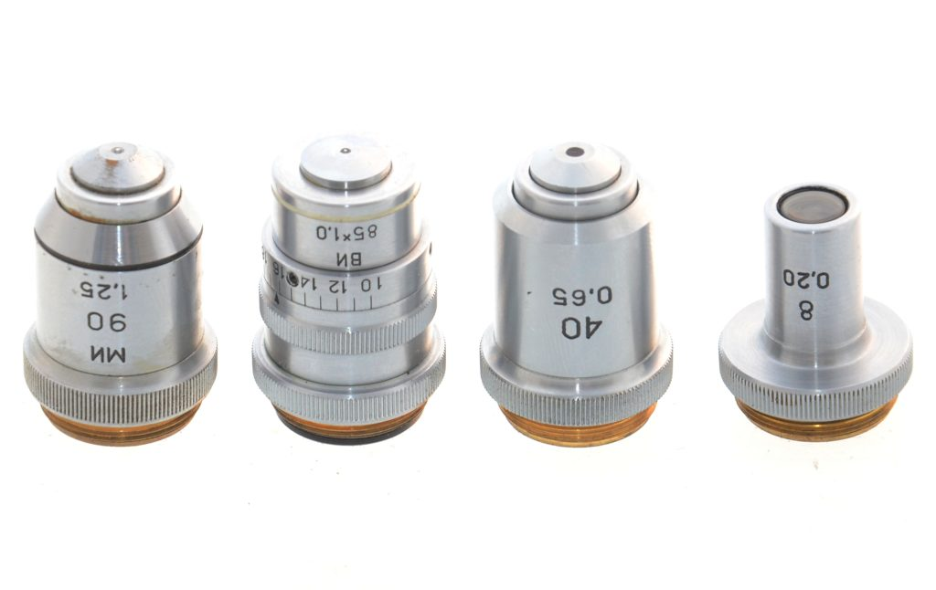 комплектные объективы микроскопа Биолам С3 фото