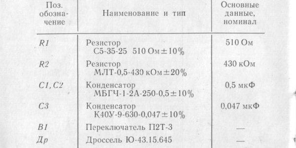 Блок питания лампы ДРШ-250-3 инструкция