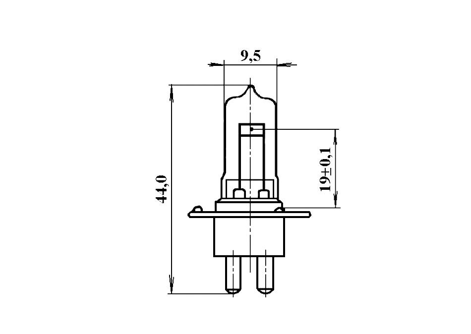 лампа КГМН 6-30 габариты
