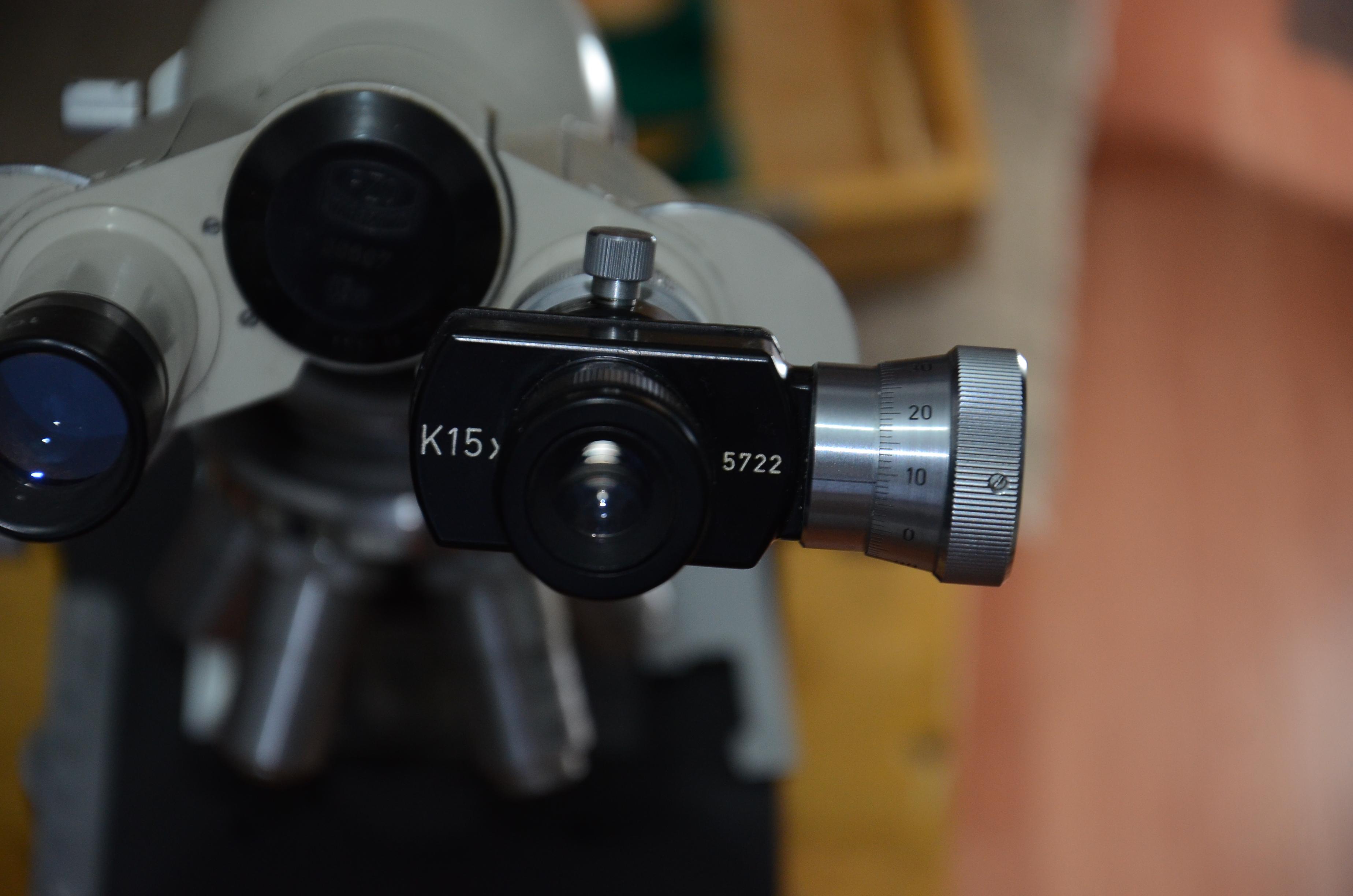 Микрометрический окуляр OK-15-КМ