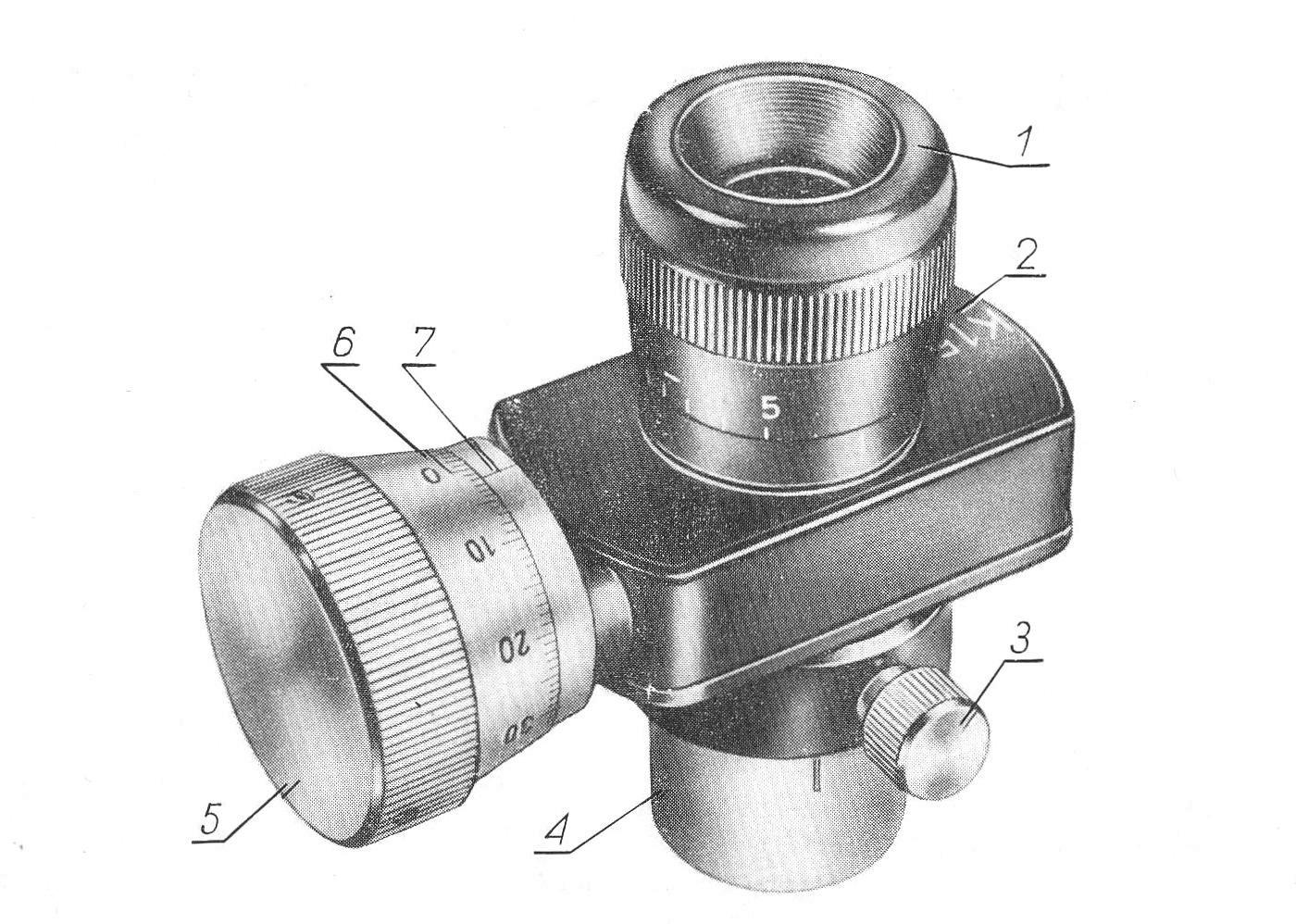 Микрометрический окуляр OK-15-КМ рис. 2