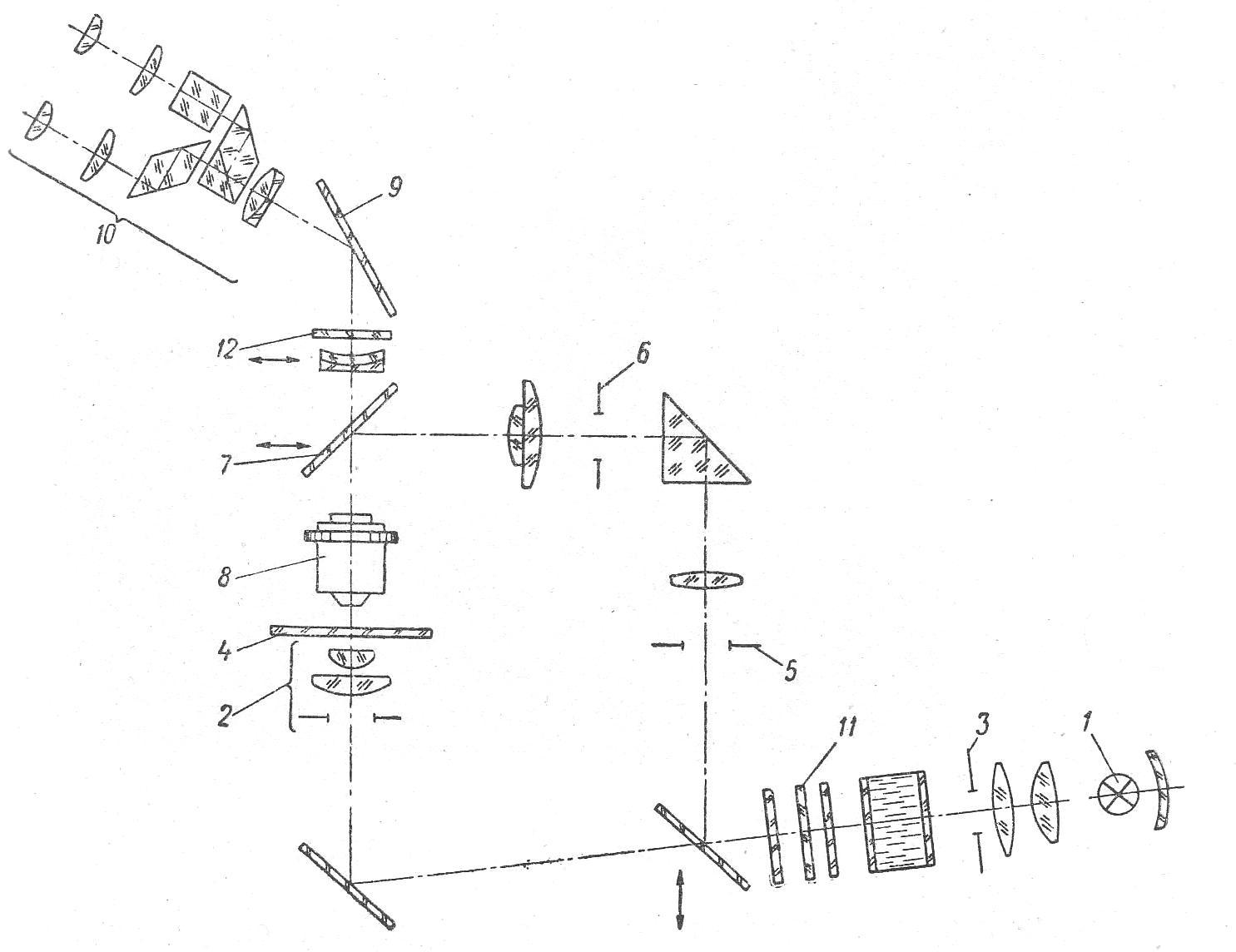 микроскоп люминесцентный МЛ-1 рис. 1