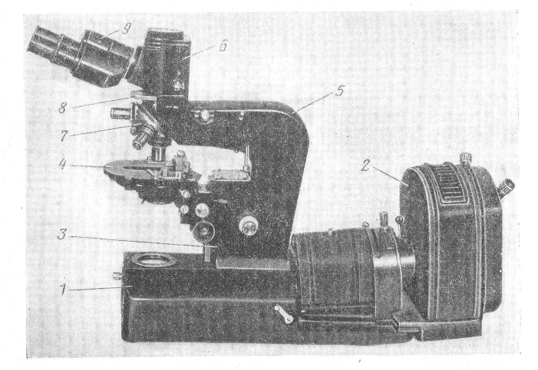 микроскоп люминесцентный МЛ-1 рис. 2