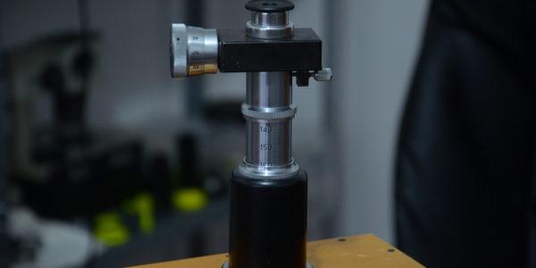 Прямой тубус с выдвижным внутренним тубусом + окулярный микрометр АМ-9