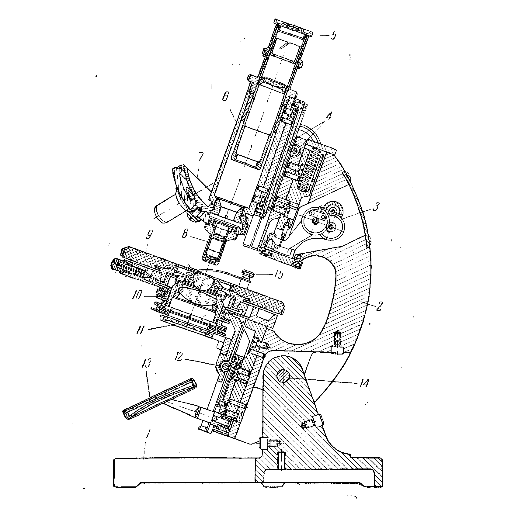 микроскоп м-10 разрез
